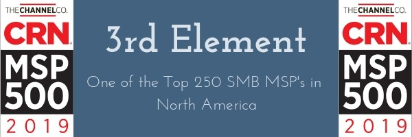 3rd Element named as one of the top 250 MSP's in North America!